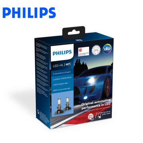 PHILIPS X-tremeUltinon LED H7頭燈兩入裝